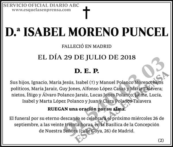 Isabel Moreno Puncel